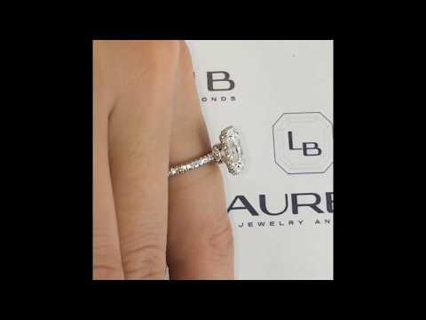 1.20 ct Radiant Cut Diamond Halo Engagement Ring