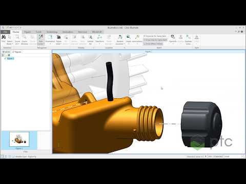 Creo Illustrate Update Source from CAD (NO AUDIO)
