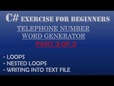 C# How To Program: Telephone-Number Word Generator Part 3 of 3 – C# Jagged Array, Loops, Nested Loops, C# Advanced nested Loops