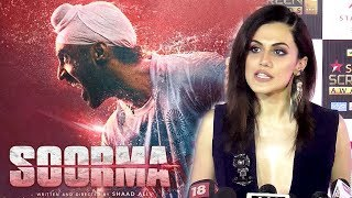 Video Taapsee Pannu OPENS Up About Working With Diljit Dosanjh In Soorma MP3, 3GP, MP4, WEBM, AVI, FLV Juni 2018