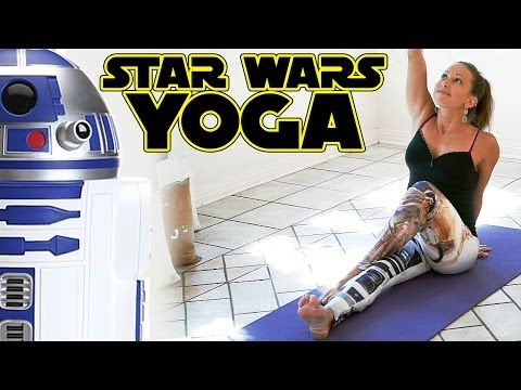 Star Wars Yoga For Beginners Workout For Weight Loss & Flexibility Stretches 20 Minute Class