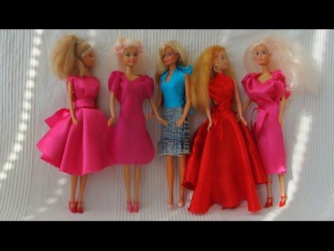 Как сшить платье для куклы барби без куклы