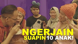 Video Prank Suapin 10 Anak Birthday 50 Pak Halilintar MP3, 3GP, MP4, WEBM, AVI, FLV Oktober 2018