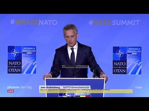 NATO-Gipfel in Brüssel: Rede von Generalsekretär Jens ...