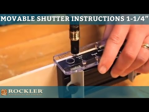 Movable Shutter Instructions for 1-1/4''