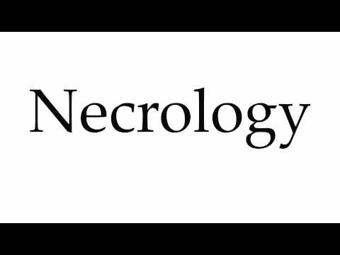 How to Pronounce Necrology