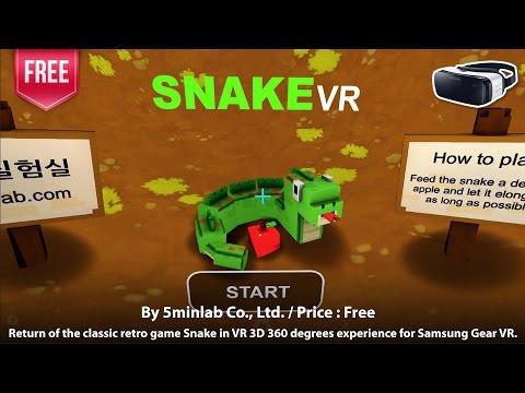 Snake VR for Samsung Gear VR - Return of the classic retro game Snake in VR 3D 360 degrees.