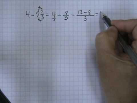 Vídeos Educativos.,Vídeos:Resta de números mixtos 2