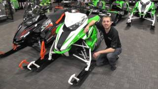 "8. 2016 Arctic Cat M6000 Sno Pro 141"" Green & White"