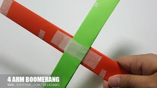 Download Lagu How to make an EASY Paper Boomerang that COME BACK to you | 4 Arm Boomerang Mp3