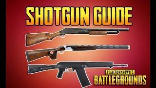 BATTLEGROUNDS SHOTGUN GUIDE! PUBG GUN GUIDE! TrainingGrounds Episode 2! Sorry for taking so long on these next...