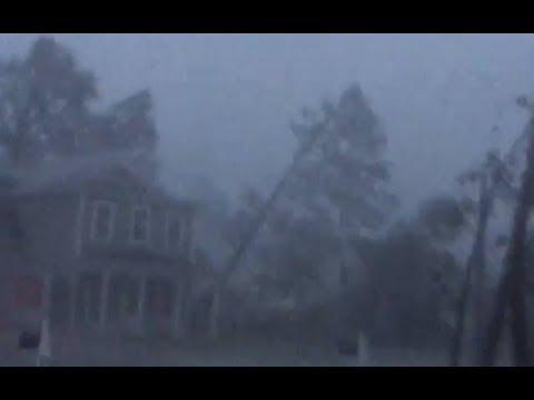Hurricane Florence hits wilmington and Belhaven, North Carolina - September 14, 2018