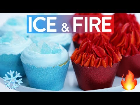 Game of Thrones Fire and Ice Cupcakes