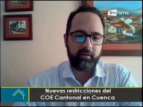 Nuevas restricciones del COE cantonal de Cuenca