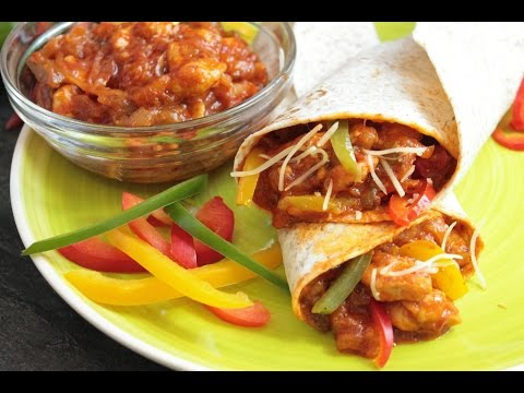 Burritos mexicanos de pollo y queso sin lactosa 🇲🇽🍻| Hot chicken wraps