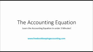 Learn the Accounting Equation