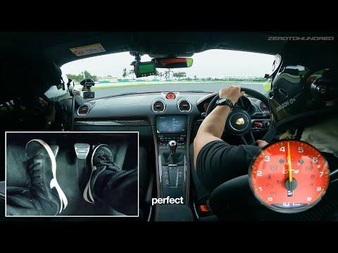 Porsche 718 GT4 Manual + Heel & Toe Footcam