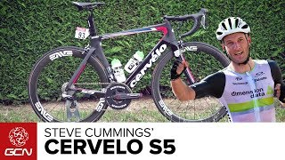 Great Britain's National Road Racing and Time Trial Champion Steve Cummings chooses the aero Cervélo S5 for all racing...