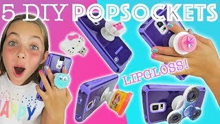 Download Lagu 5 Best Easy DIY Popsocket Crafts   How To Phone DIY Projects w/ Ava   Kids Cooking and Crafts Mp3