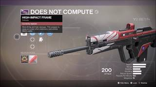 Destiny 2 Does Not Compute Legendary Scout Rifle Gameplay