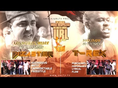 t.rex - Smack/URL drops the long awaited match up between Dizaster and T-Rex. These are two of the most popular MC's in the world and many have been requesting them ...