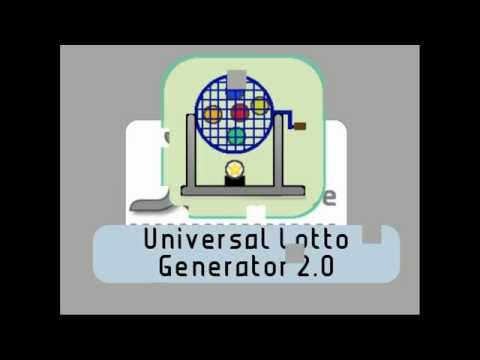 Video of Universal Lotto Generator