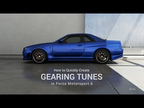 Forza 6 Gear Tuning - How To Stay In The Power Band Using ForzaTune