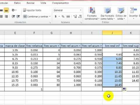 Tablas de frecuencias y gráficas en Excel