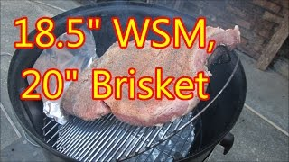 Stretch your WSM inside to smoke large briskets by Louisiana Cajun Recipes