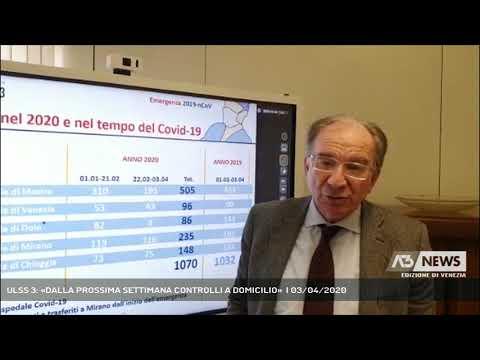 ULSS 3: «DALLA PROSSIMA SETTIMANA CONTROLLI A DOMICILIO»  | 03/04/2020