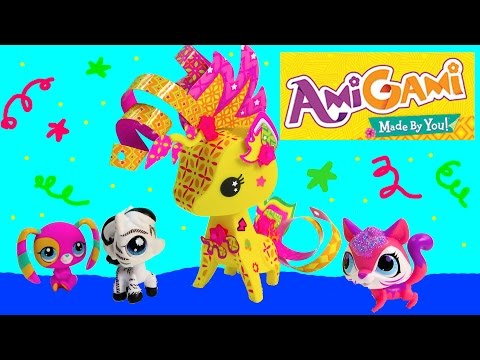 pet - SUBSCRIBE: http://www.youtube.com/channel/UCelMeixAOTs2OQAAi9wU8-g?sub_confirmation=1 Create your own custom unique pets with super fun Amigami craft playsets. Style colorful paper and ...