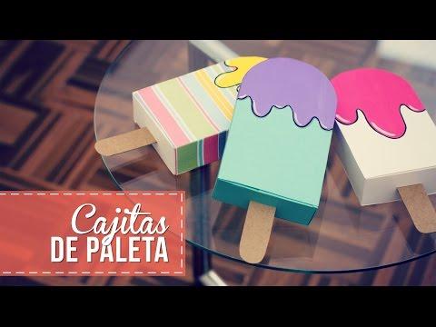 tutorial per realizzare una scatolina regalo a forma di gelato