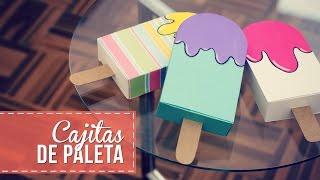 Cajitas en forma de paleta, muy fáciles! - YouTube