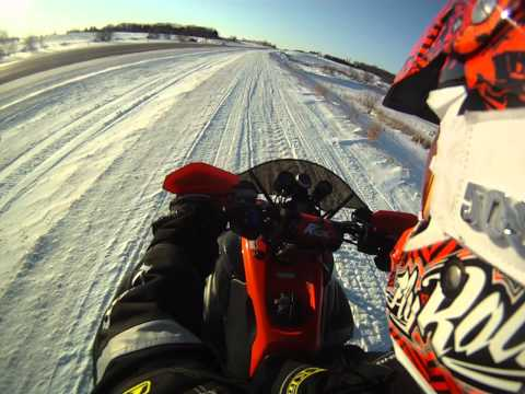 Supercharged Yamaha Phazer Snowmobile ..A couple of launches done with Go ProHD