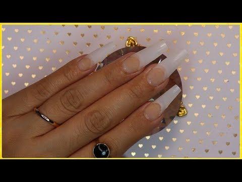 Diseños de uñas - DISEÑO De Uñas en Color NARANJA NEON + Tecnica NAVAJA