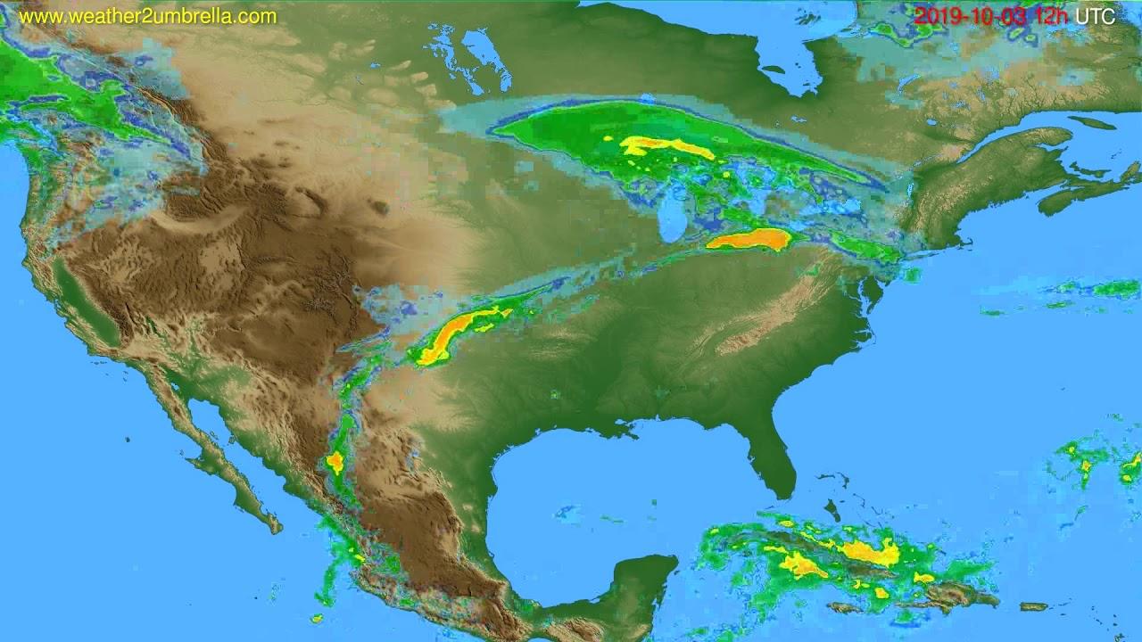 Radar forecast USA & Canada // modelrun: 00h UTC 2019-10-03