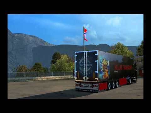Volvo FH16 520 Hellas Macedonia Skin & Trailer