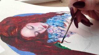 Watercolour Time lapse by Fran McGarry