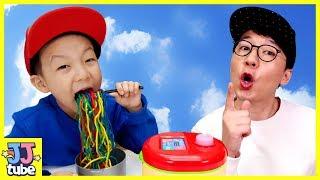 마법밥솥 무지개 짜장면 장난감 인기동요 Rainbow Noodle song Johny Johny Yes Papa Nursery Rhymes for kids[제이제이튜브-JJtube