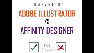 Video is made in order to make basic comparison between Adobe Illustrator and Affinity Designer regarding features, user interface, functionality, tools, and of course - price.My personal opinion is that Adobe Illustrator is better at the moment, but Affinity Designer has great potential and better price especially if bunch of new and missing features will come in future updates.
