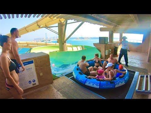 Waterslides at Atlantis Aquaventure Waterpark in Dubai