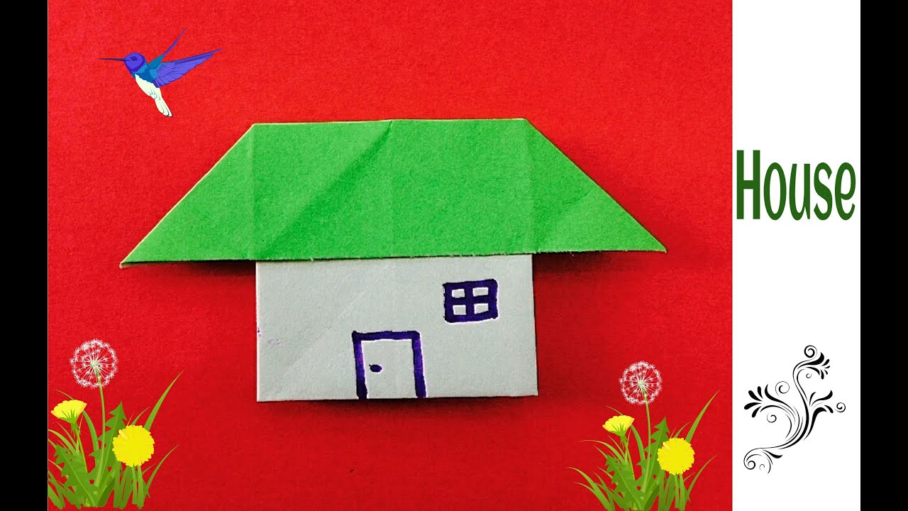 Buildings paperfolds origami arts and crafts easy origami paper house jeuxipadfo Gallery
