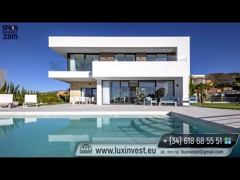 High-Tech villas de lujo en Benidorm con vistas al mar en la urbanización Sierra Cortina