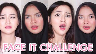 Video FACE IT CHALLENGE! ft. NADYA AISHA MP3, 3GP, MP4, WEBM, AVI, FLV Juli 2018