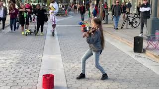 See You Again - Karolina Protsenko is playing violin on 3rd Street Promenade of Santa Monica