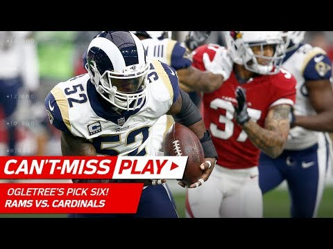 Video: Alec Ogletree's Spectacular Pick 6 & Front Flip in the End Zone! | Can't-Miss Play | NFL Wk 13