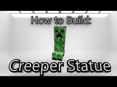 how to make a creeper statue minecraft how to make a wither statue    How To Make An Enderman Statue