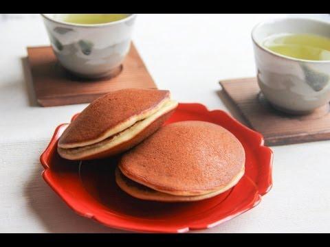 Japanese Dessert: Sweet Red Bean Paste in Pancakes or Dorayaki