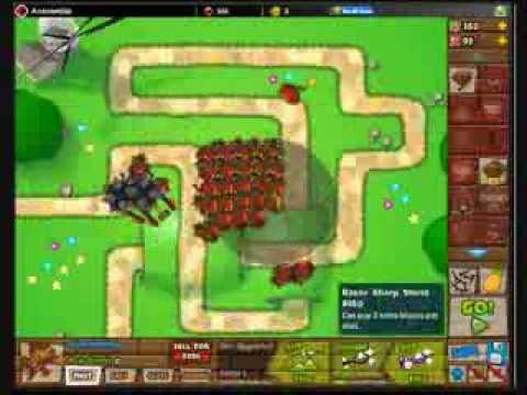 Btd5 bloons tower defense 5 walkthrough hard mode track 1 nll 0