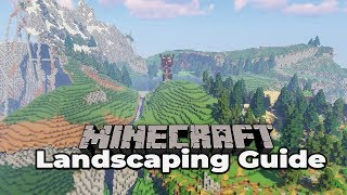 Minecraft Survival Landscaping Guide #1 How to build custom terrain : Tutorial Let's Play
